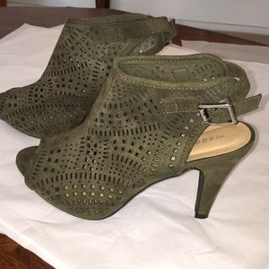Madden Girl G-Kasey laser cut high heel booties